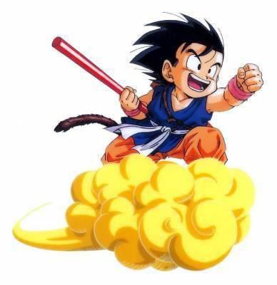 Goku sur son nuage